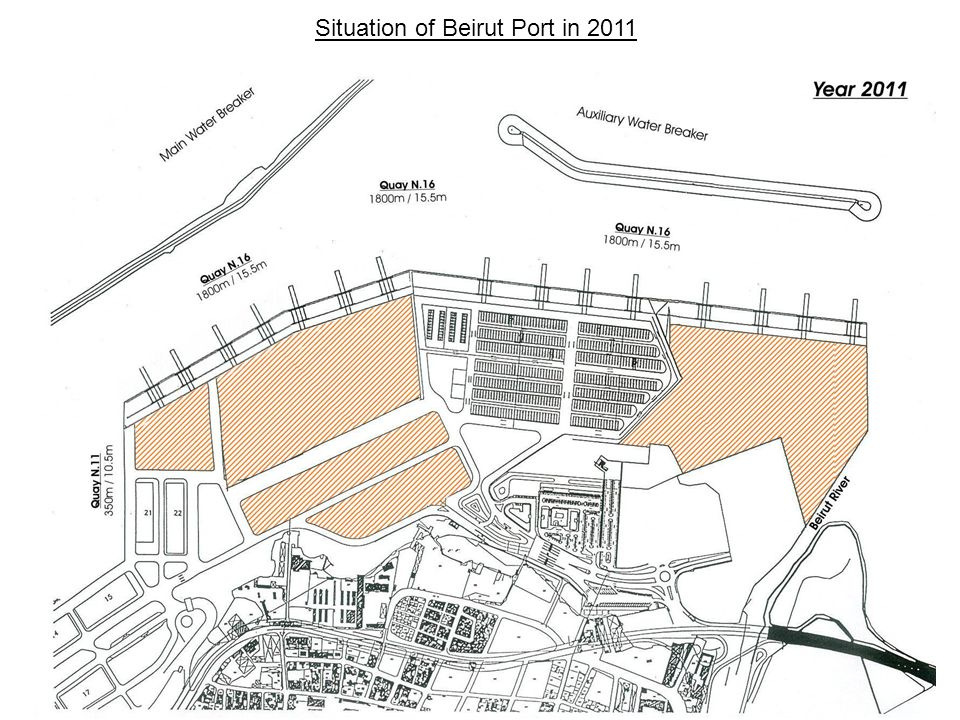 Situation of Beirut Port in 2011