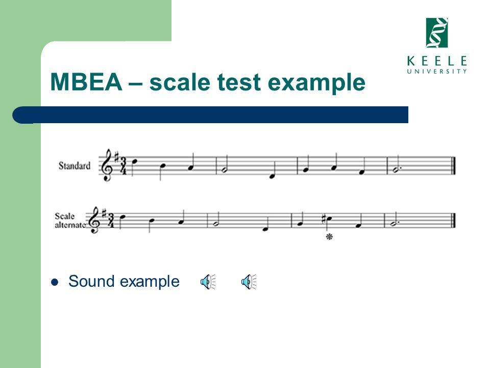 MBEA – scale test example Sound example