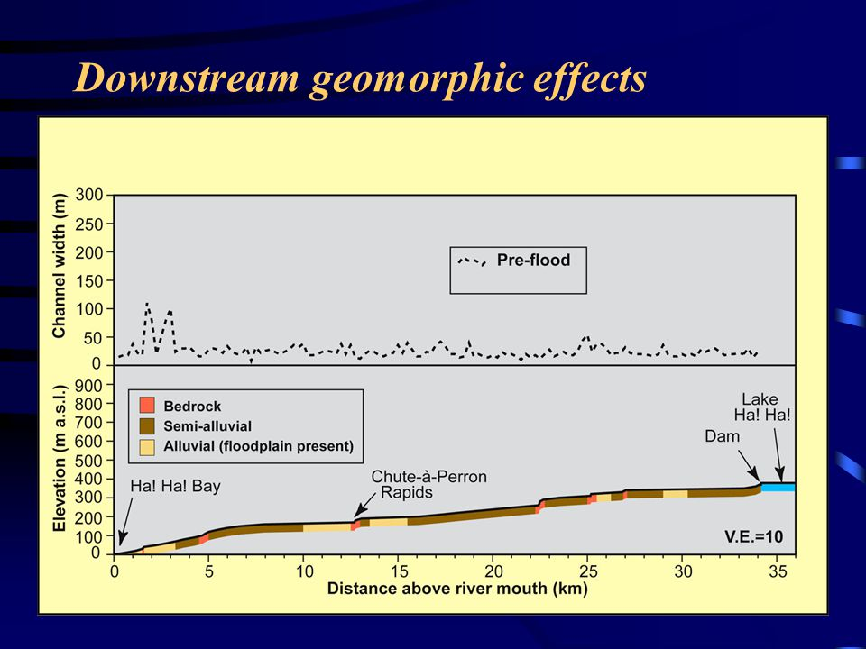 Downstream geomorphic effects