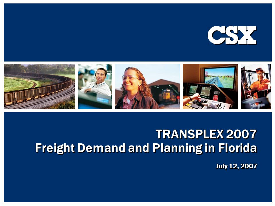 22 In May 2007, CSX submitted its Southeast I-95 Corridor as a candidate for the Corridor of the Future CSXs Vision is a corridor that will enable both passenger and freight trains to: Travel faster With greater safety With reliability and recoverability As well as allowing for increased freight and passenger train volumes Significant infrastructure investments will be required to make this vision a reality