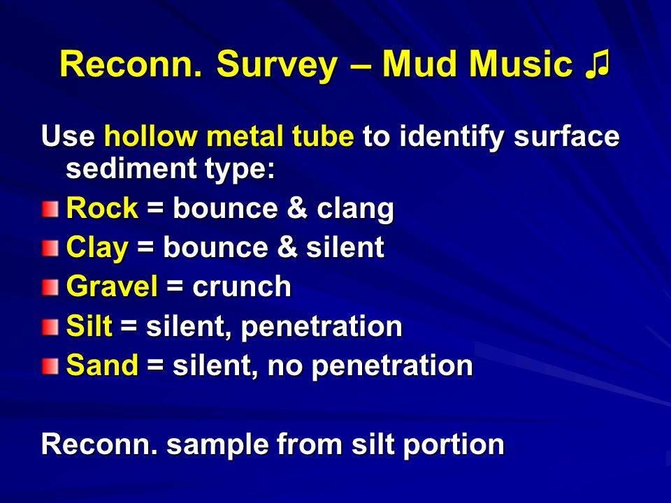 Reconn. Survey – Mud Music Reconn.