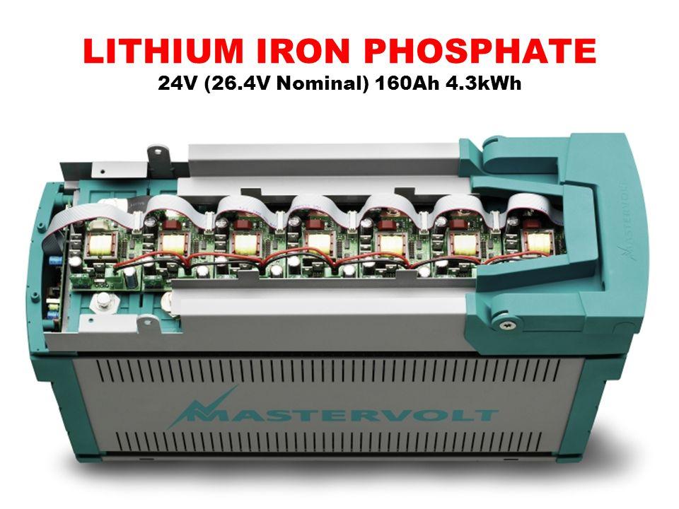LITHIUM IRON PHOSPHATE 24V (26.4V Nominal) 160Ah 4.3kWh