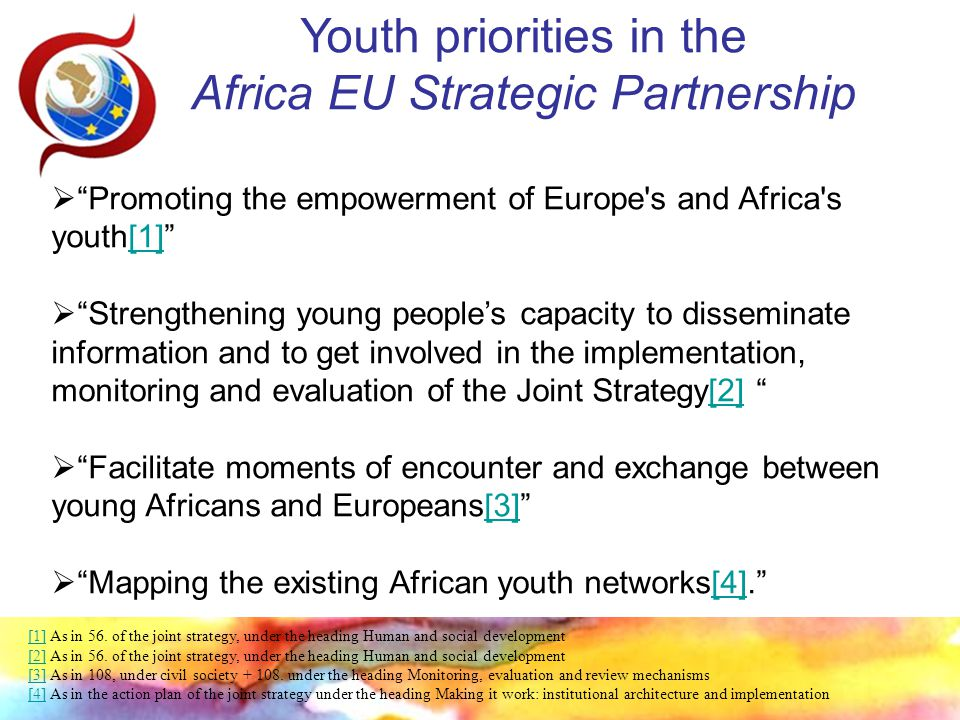 Follow-up Institutional Cooperation between CoE and EU: Joint Management Agreement European Commission EuropeAid Support to Youth work and Non-State actors Promoting Youth Policies Training and Capacity Building for Youth Organisations