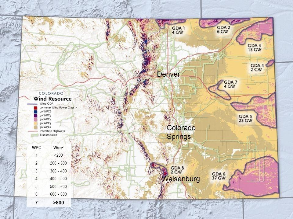 12-Jun-14Confidential Slide 13 Denver Colorado Springs Walsenburg WPCW/m 2 1<200 2200 - 300 3300 - 400 4400 - 500 5500 - 600 6600 - 800 7>800