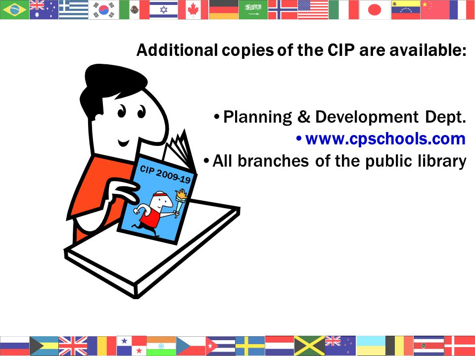 Additional copies of the CIP are available: Planning & Development Dept.