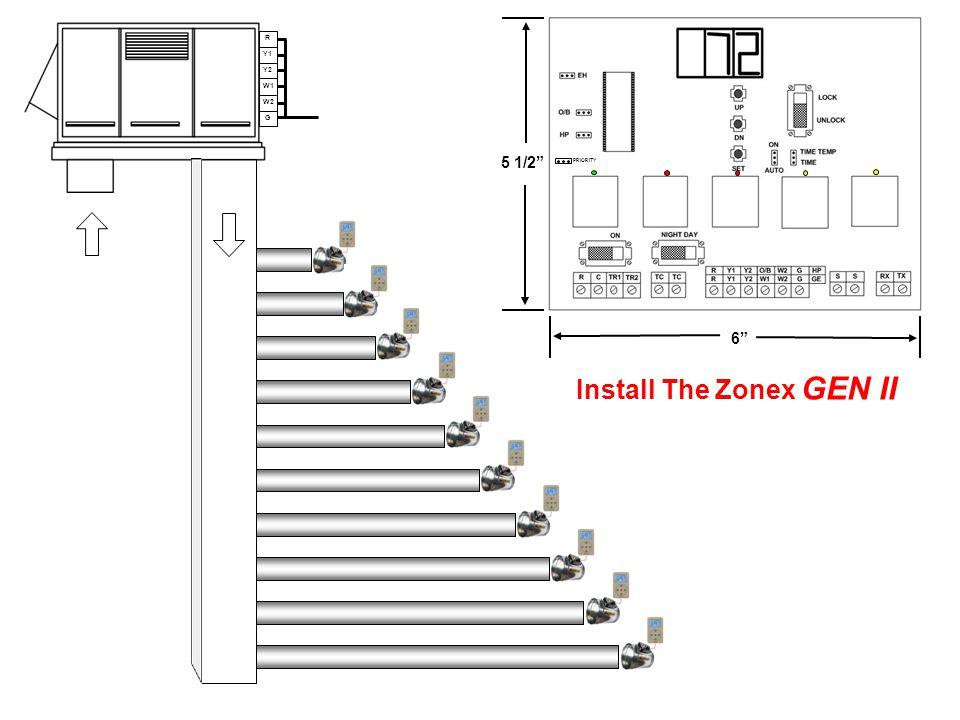 R Y1 Y2 W1 W2 G Install The Zonex GEN II 6 5 1/2 PRIORITY