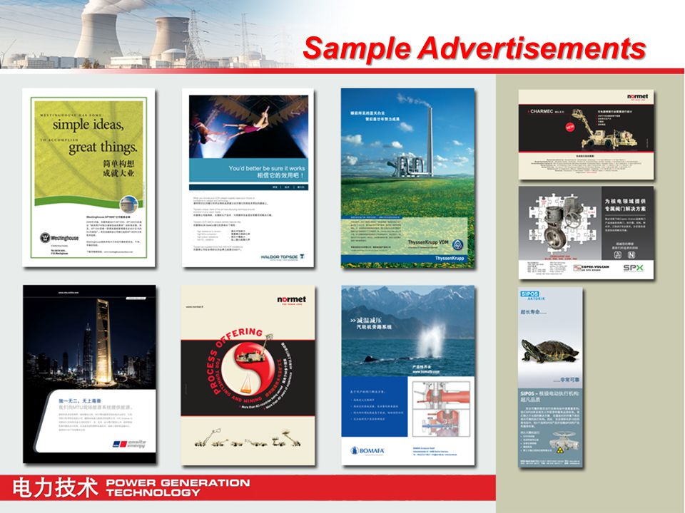 Sample Advertisements