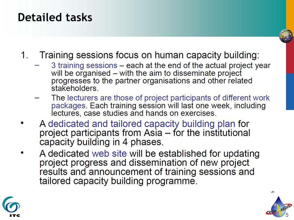 5 Detailed tasks