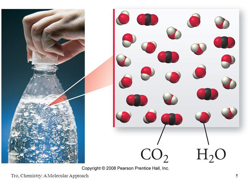Tro, Chemistry: A Molecular Approach16 Classifying Solvents SolventClass Structural Feature Water, H 2 OpolarO-H Methyl Alcohol, CH 3 OHpolarO-H Ethyl Alcohol, C 2 H 5 OHpolarO-H Acetone, C 3 H 6 OpolarC=O Toluene, C 7 H 8 nonpolarC-C & C-H Hexane, C 6 H 14 nonpolarC-C & C-H Diethyl Ether, C 4 H 10 OnonpolarC-C, C-H & C-O, (nonpolar > polar) Carbon TetrachloridenonpolarC-Cl, but symmetrical