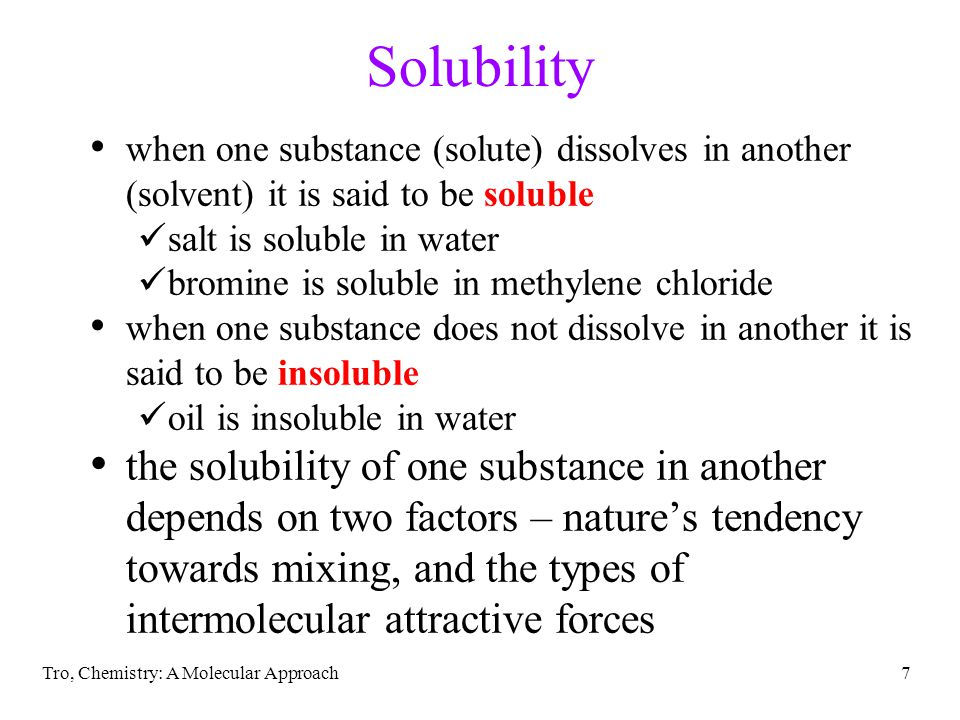 38 Pressure Dependence of Solubility of Gases in Water the larger the partial pressure of a gas in contact with a liquid, the more soluble the gas is in the liquid