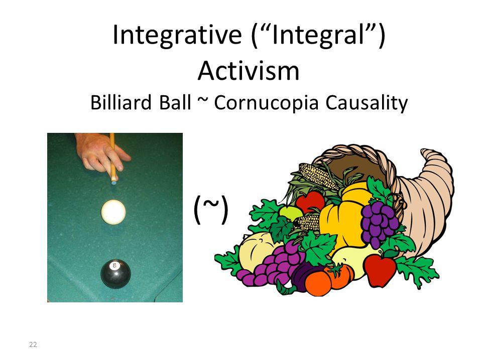 22 Integrative (Integral) Activism Billiard Ball ~ Cornucopia Causality (~)
