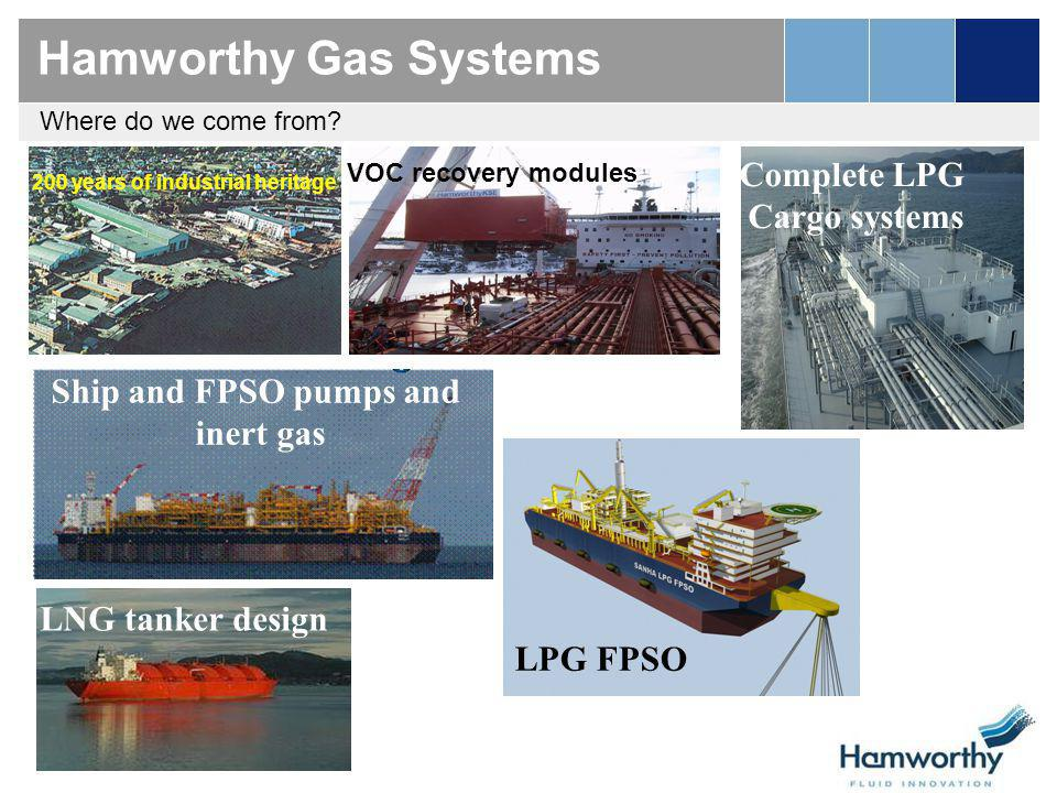 LNG transport Leading the way in LNG Reliquefaction Systems 31 reliquefaction units contracted with Hamworthy so far… Innovation - significant reduction in power consumption: Mark I– First 20 vessels Mark II – Developed for small scale onshore units Mark III – Last generation LNG Carriers (11 orders)