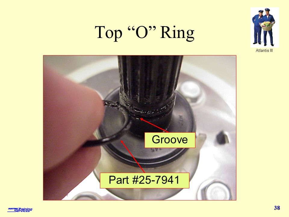 Atlantis III 38 Top O Ring Part #25-7941 Groove