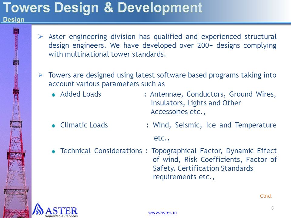 More information 17 www.aster.in
