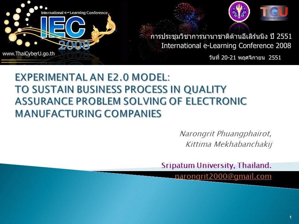 Narongrit Phuangphairot, Kittima Mekhabanchakij Sripatum University, Thailand.