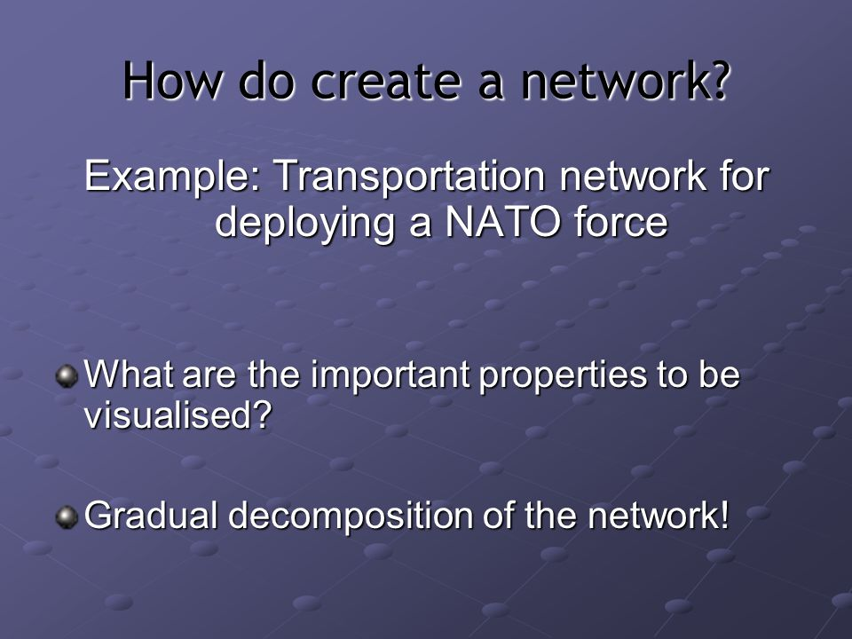 How do create a network.