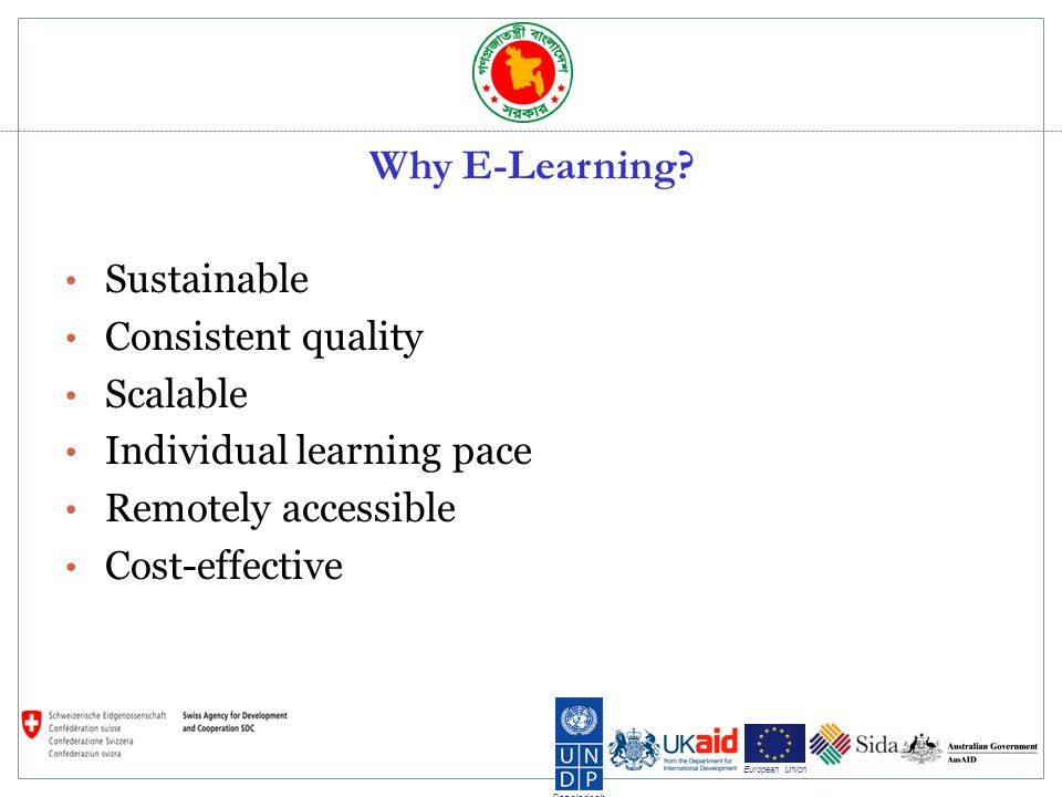 Bangladesh European Union Why E-Learning.