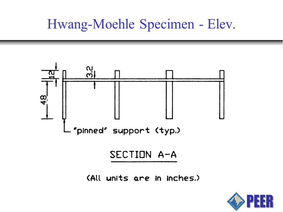 Hwang-Moehle Specimen - Elev.