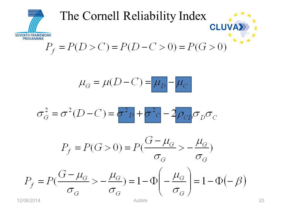 The Cornell Reliability Index 12/06/2014Autore25