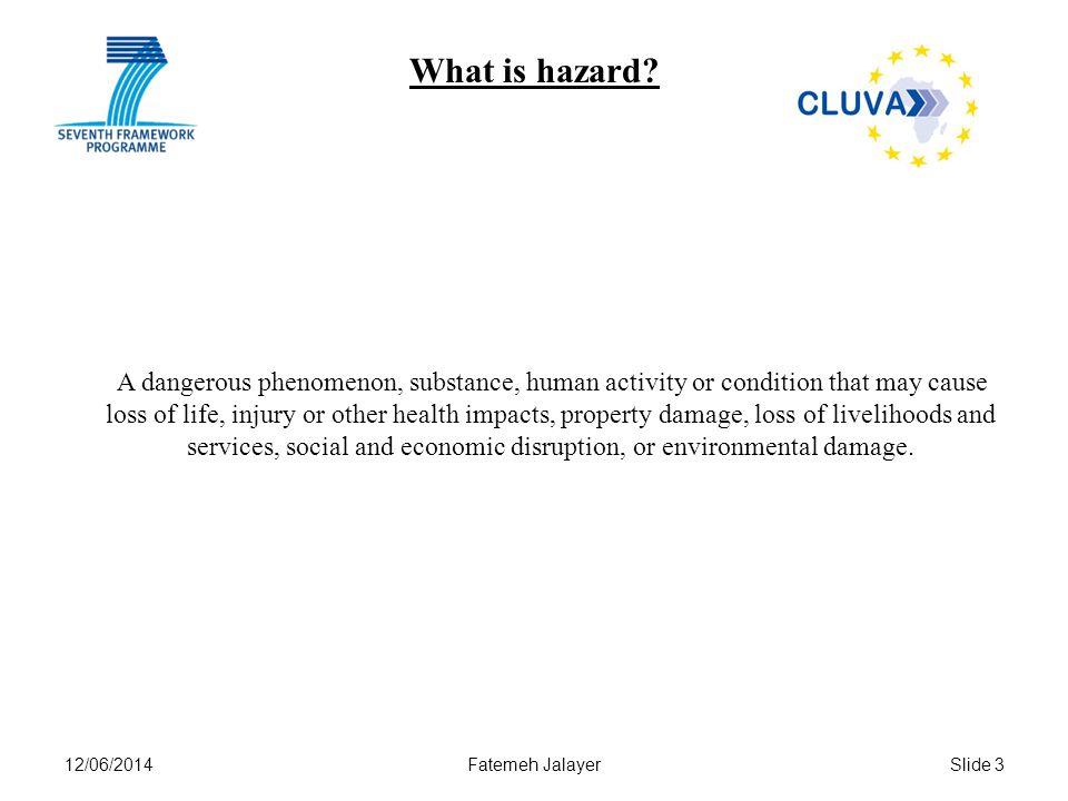 12/06/2014Fatemeh JalayerSlide 3 What is hazard.