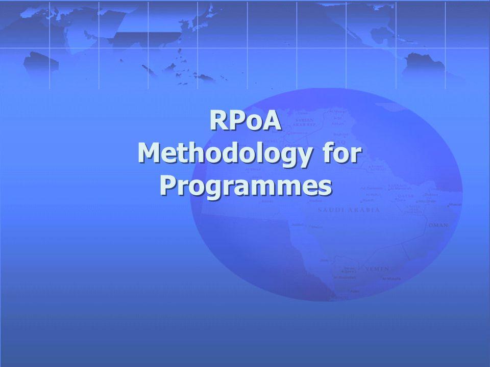 RPoA Methodology for Programmes