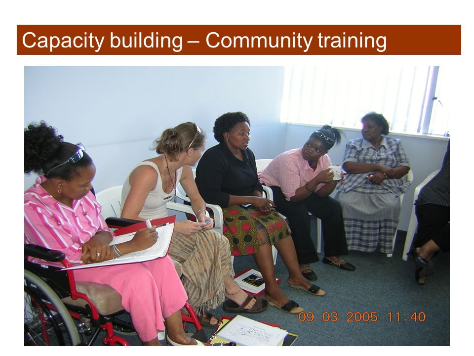 Capacity building – Community training