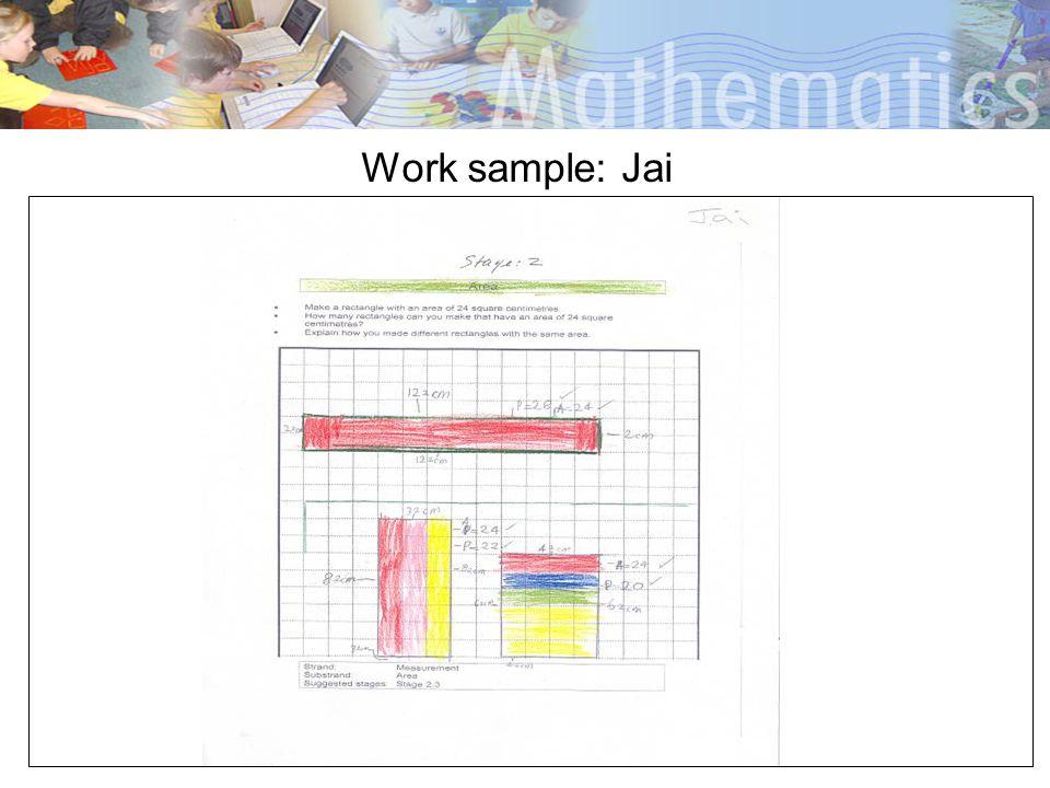 Work sample: Jai