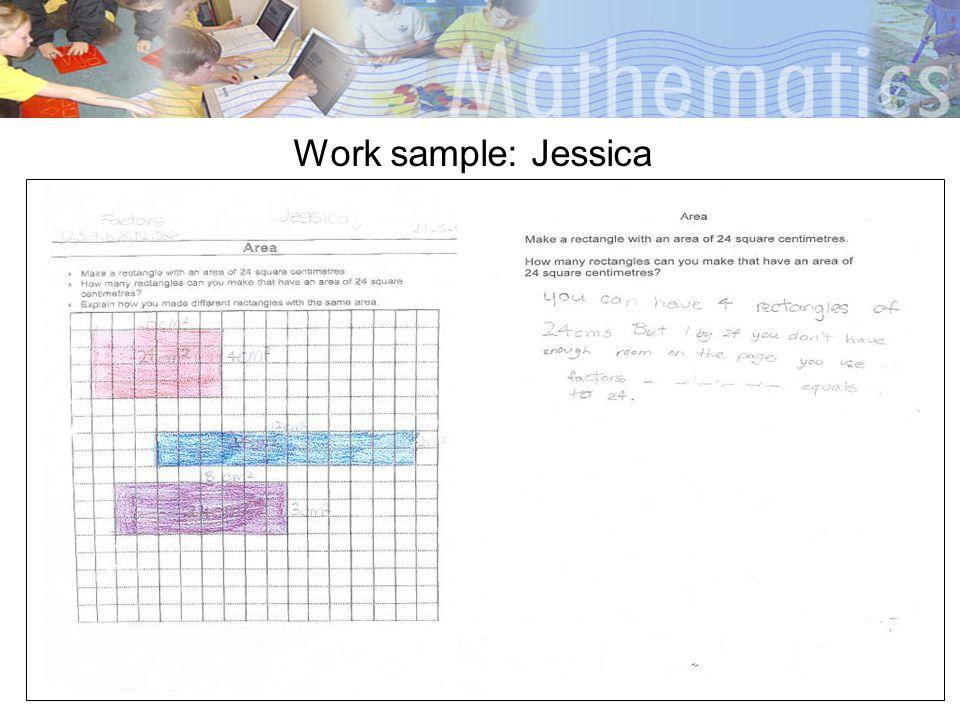 Work sample: Jessica