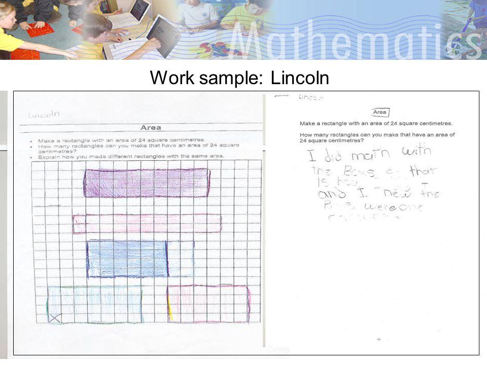 Work sample: Lincoln