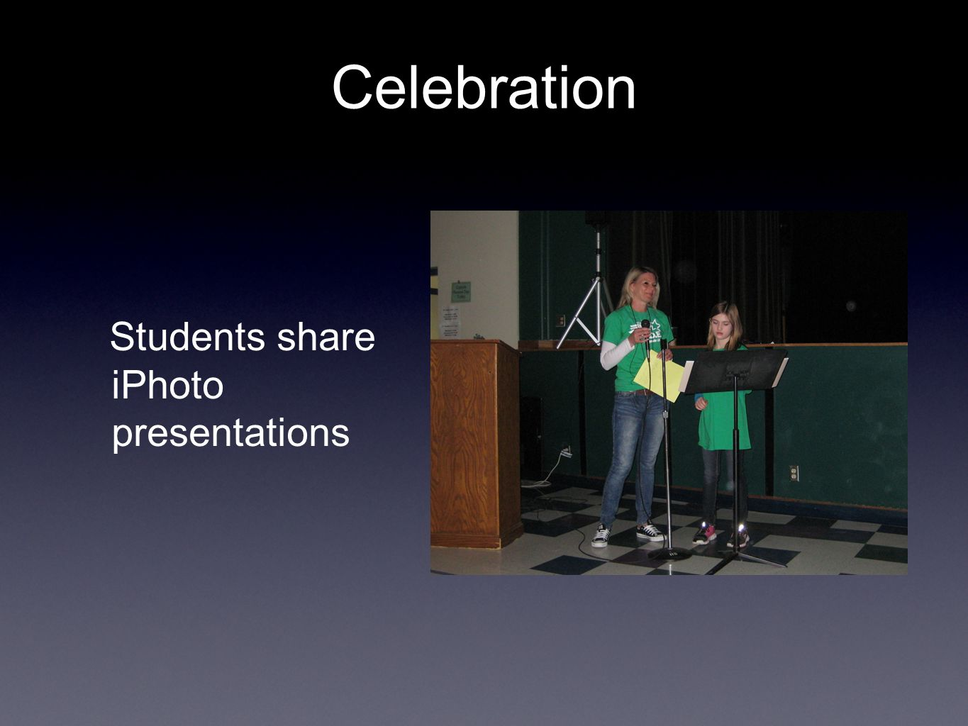 Students share iPhoto presentations Celebration