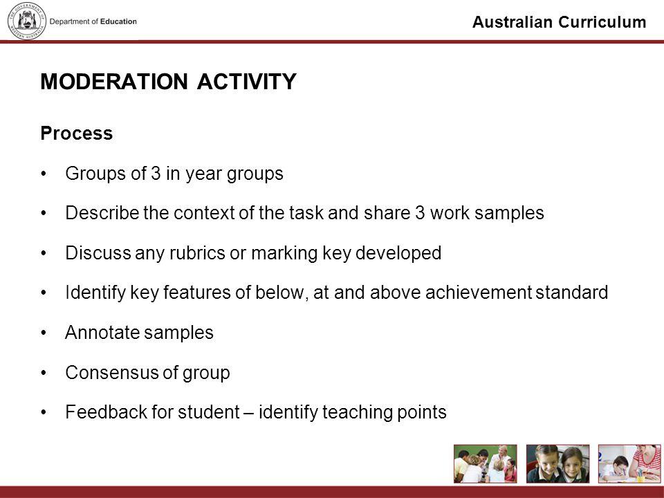 Australian Curriculum MORNING TEA