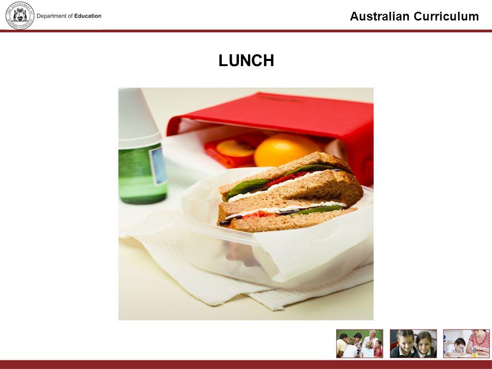 Australian Curriculum LUNCH