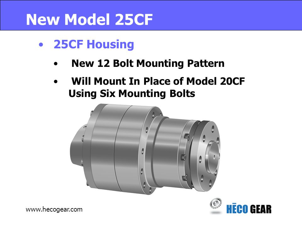 www.hecogear.com New Model 25FF 25FF Housing No Mounting Changes