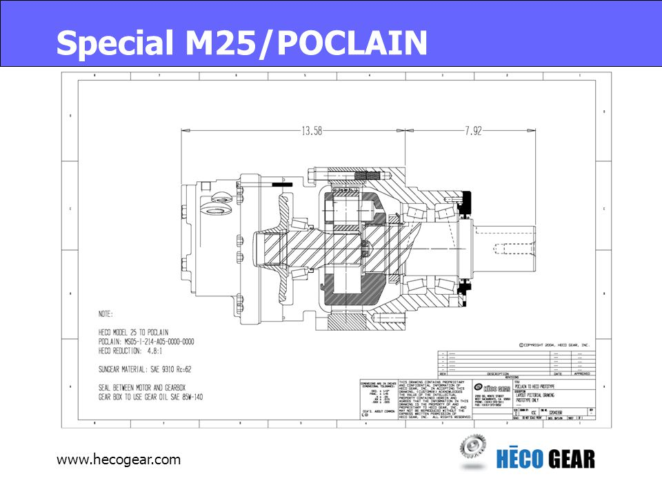 www.hecogear.com Special M25/POCLAIN