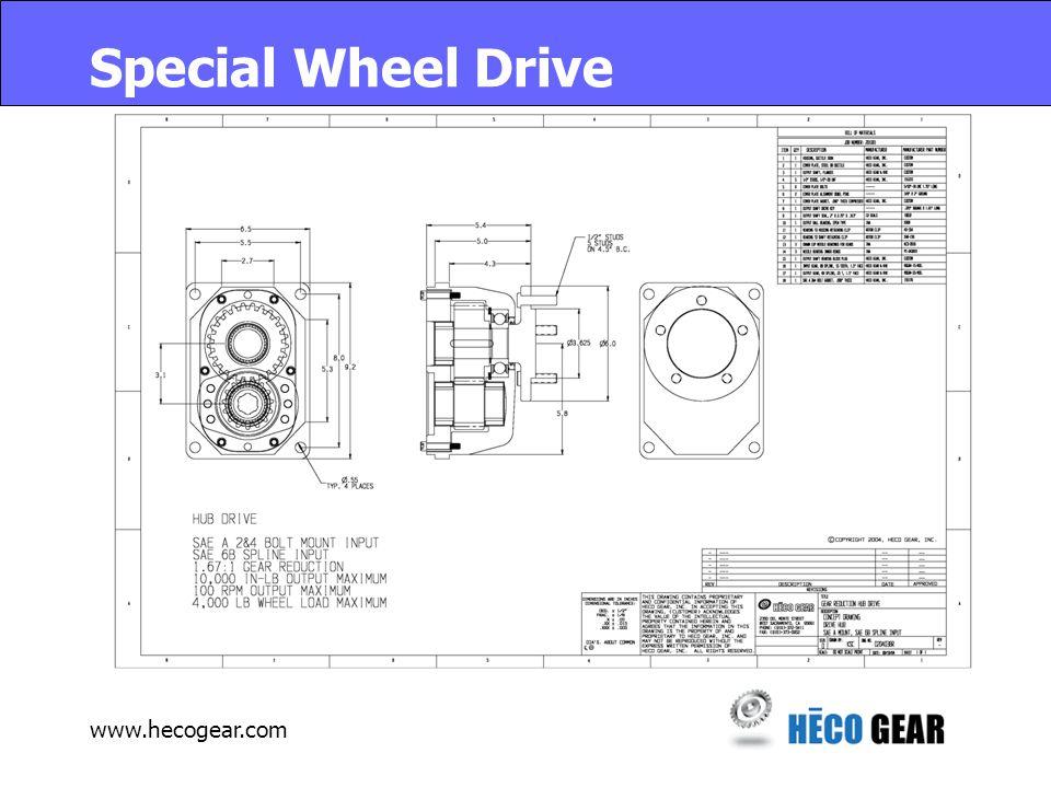 www.hecogear.com Special Wheel Drive