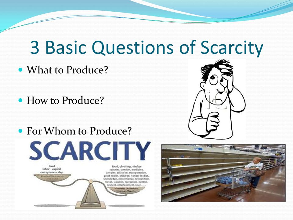 Production With every item we produce we must figure in the factors of production.