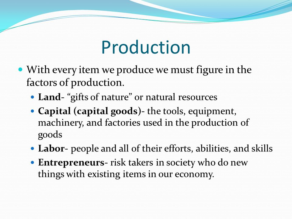 Productivity and Economic Growth When a country is healthy it contains economic growth or basically an increase of total output of goods and services.