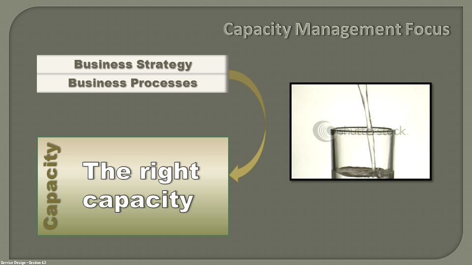Ensures that cost justifiable IT capacity is matched to the current and future agreed needs of the business.