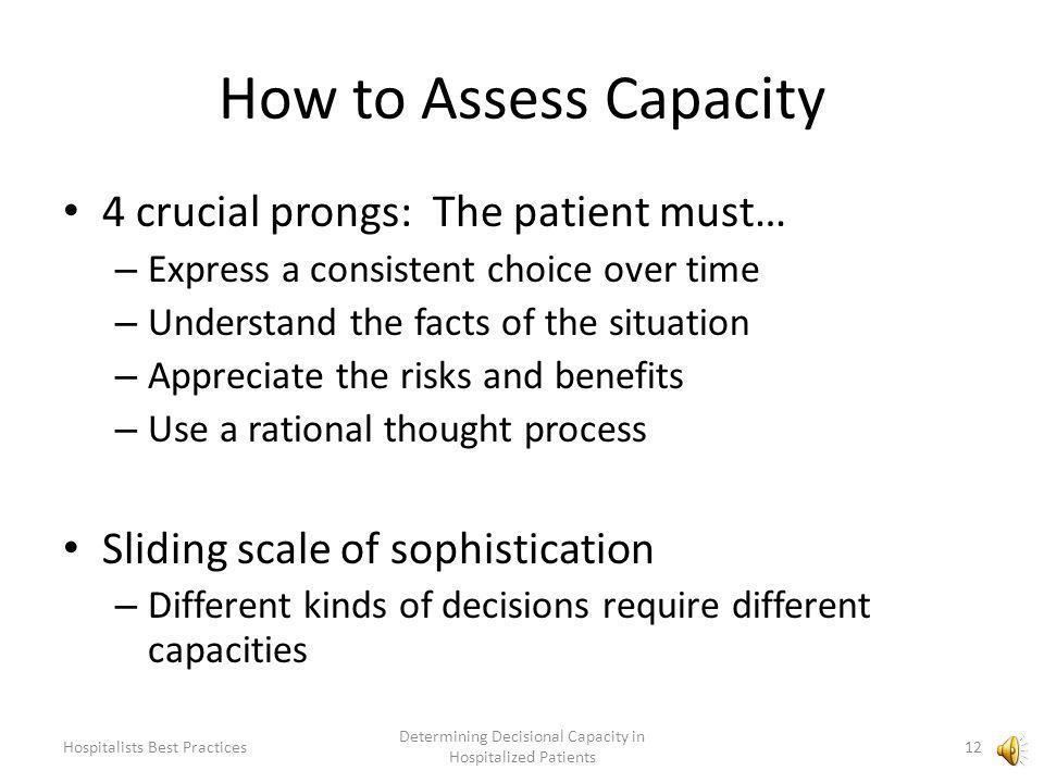Modified MCAT-T (NEJM. Appelbaum PS. Assessment of Patients Competence.