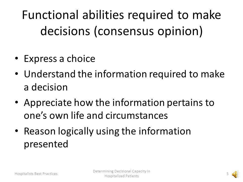 How do we make decisions.