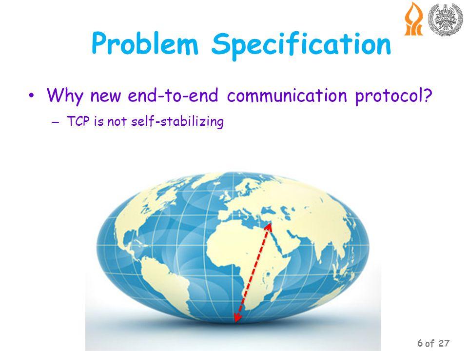 Outline Introduction Problem Specification The Algorithm Key Features Conclusion