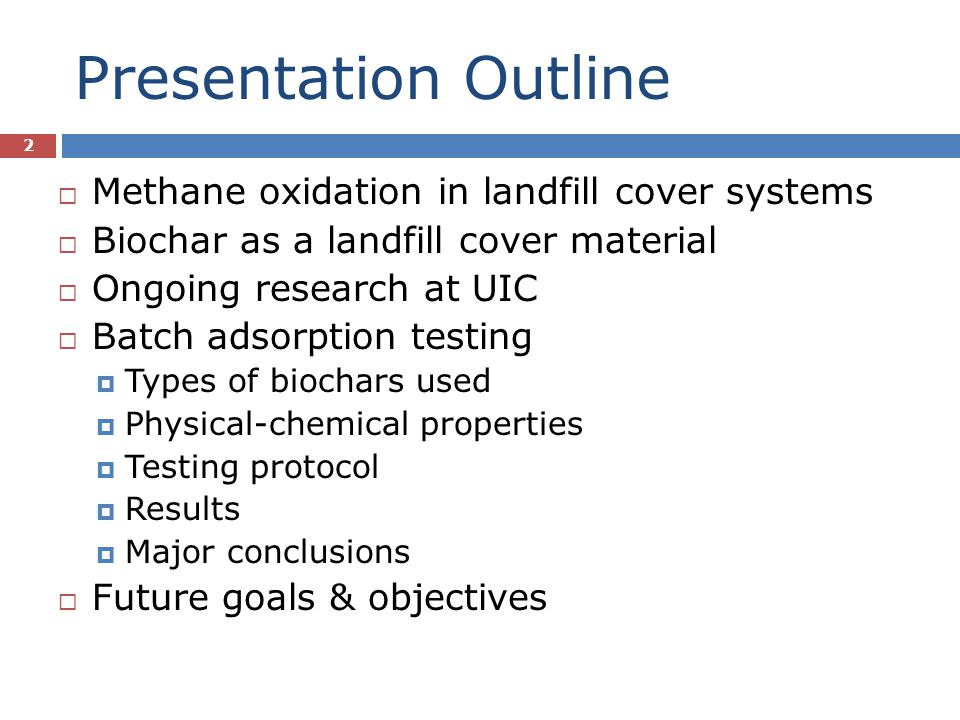 Batch Adsorption Testing - Results 13 CE-WP2 tested at 10% headspace CH 4 (v/v) Positive heat of adsorption; Qe decreases w/ increasing T