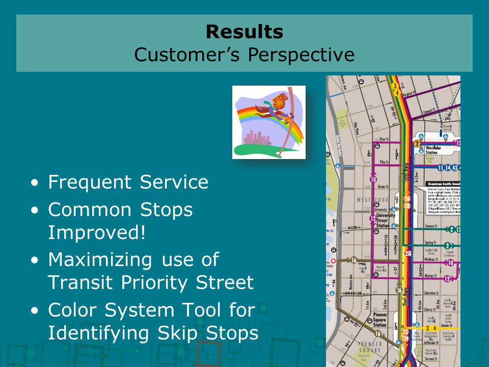 Frequent Service Common Stops Improved.