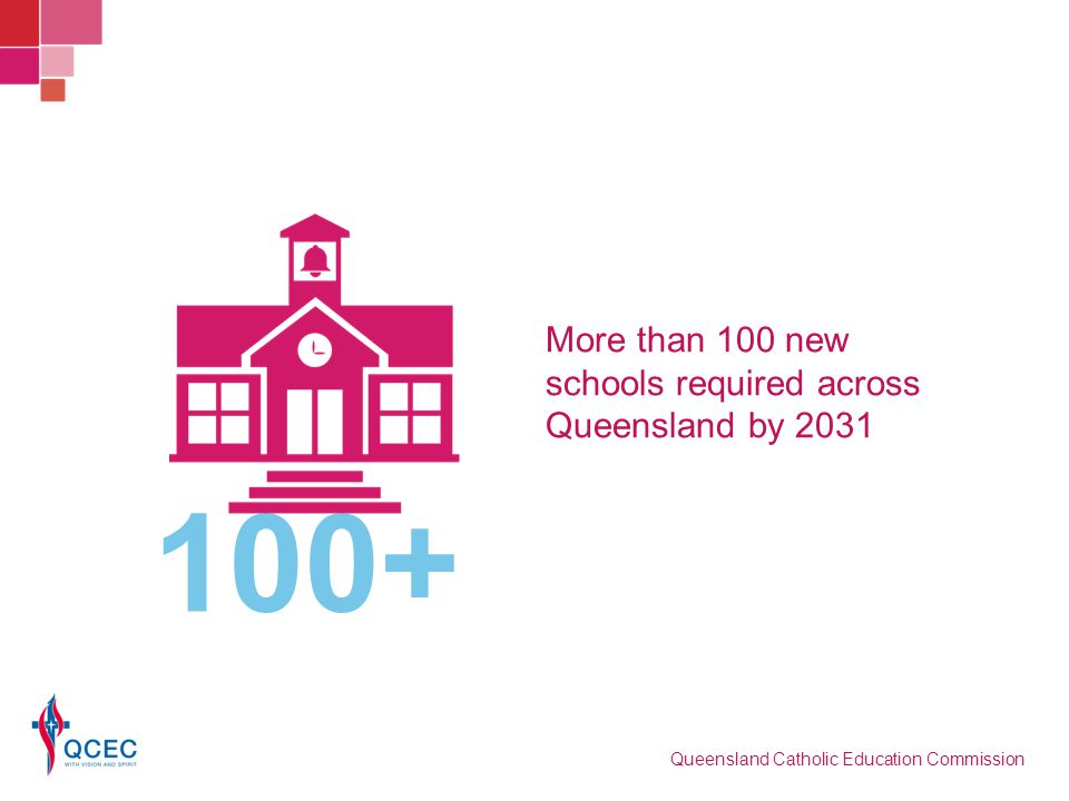 More than 100 new schools required across Queensland by 2031 100+ Queensland Catholic Education Commission