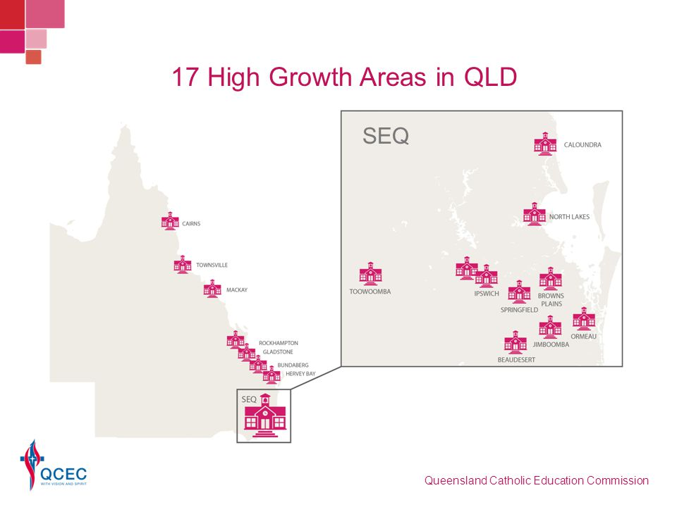 17 High Growth Areas in QLD Queensland Catholic Education Commission SEQ