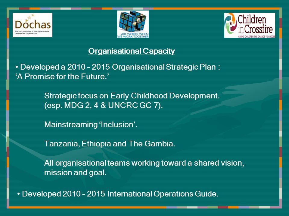 Organisational Effectiveness Equitable partnership with the Tanzania Early Childhood Development Network (TECDEN).