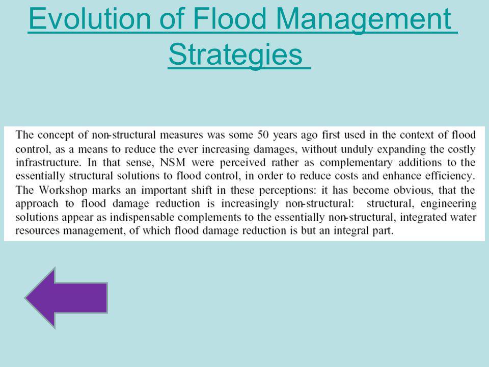 Evolution of Flood Management Strategies