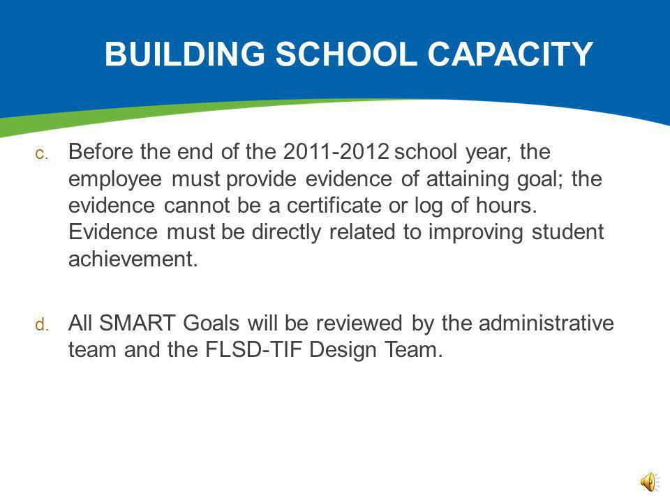 BUILDING SCHOOL CAPACITY c.