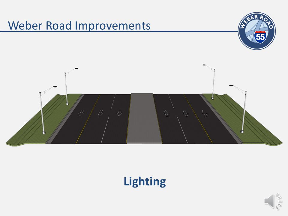 Weber Road Improvements Existing Lanes Added Lane Additional Capacity