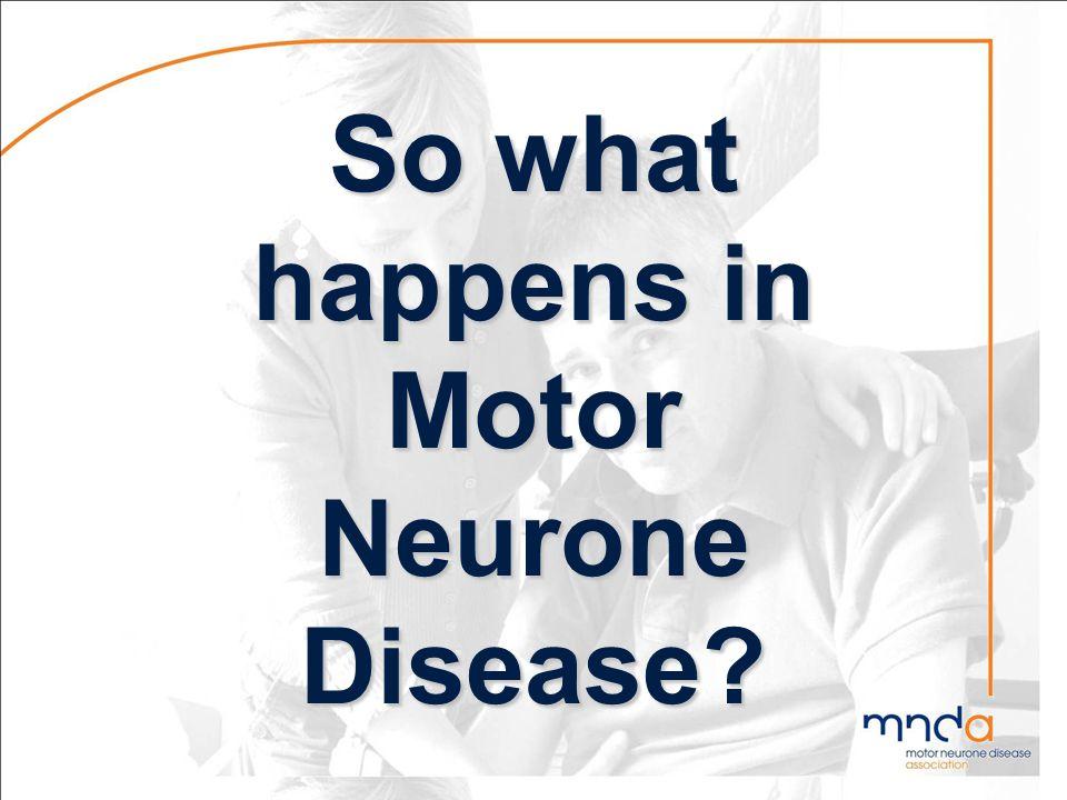 So what happens in Motor Neurone Disease?